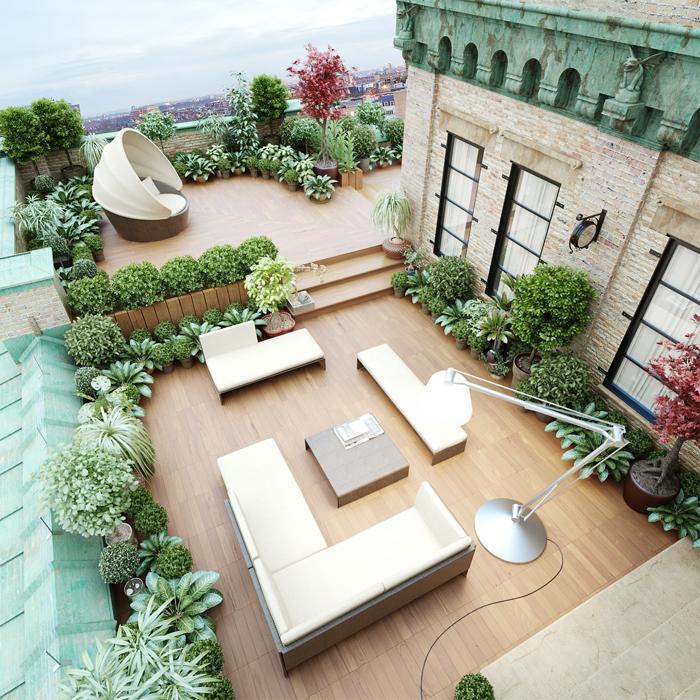 Rooftop gardens in der stadt pflanzenfreude - Jardin sin mantenimiento ...