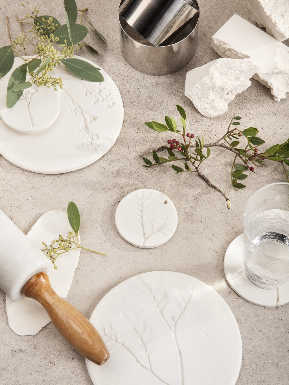 Diy pflanzenfossil aus keramik pflanzenfreude - Ideen aus ton ...